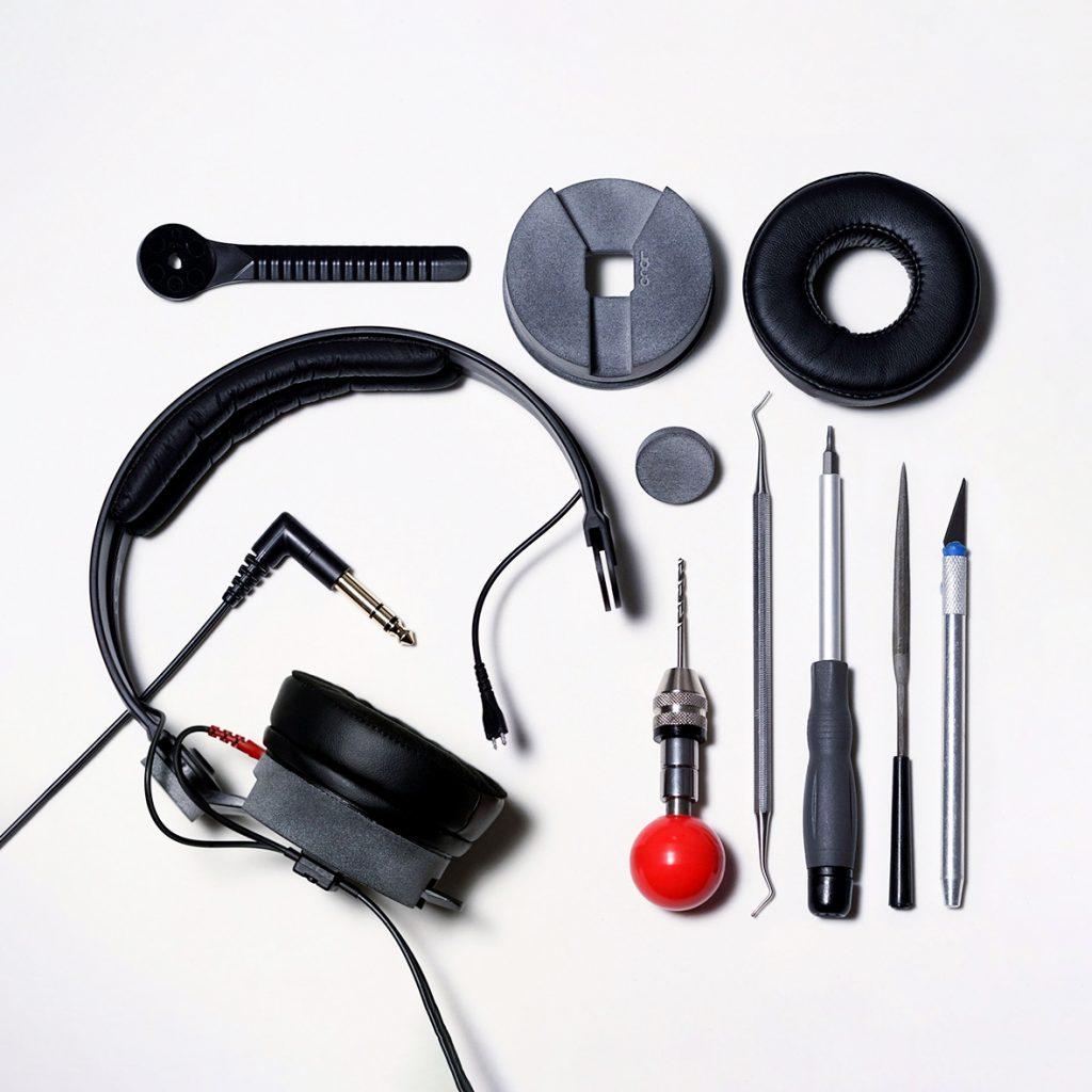 Assembly Sennheiser hd25 Loconoise Quartz custom parts mod